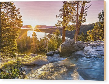 Eagle Falls Emerald Bay Lake Tahoe Sunrise First Light Wood Print