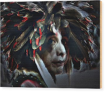 Eagle Feather Wood Print by Irma BACKELANT GALLERIES