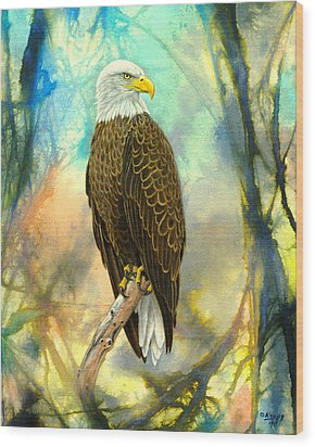 Eagle In Abstract Wood Print by Paul Krapf