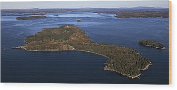 Eagle Island, Penobscot Bay Wood Print by Dave Cleaveland