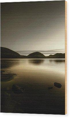 Eagle Lake Wood Print by Greg DeBeck
