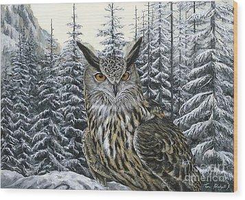 Eagle Owl Wood Print