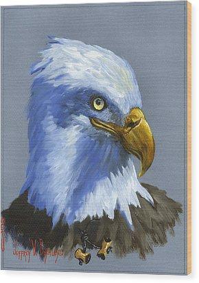 Eagle Patrol Wood Print