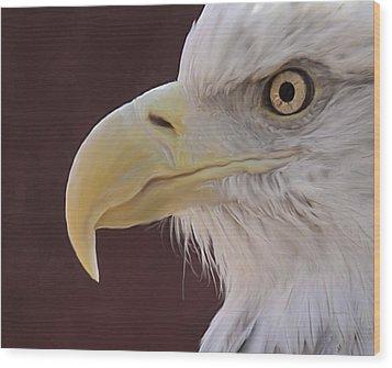 Eagle Portrait Freehand Wood Print