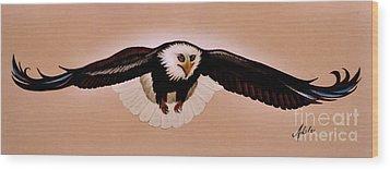 Eagle Stealth Wood Print by Adele Moscaritolo