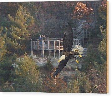 Eagle Watch Wood Print by Sotiri Catemis