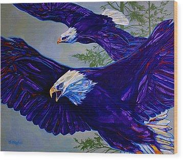 Eagles  Wood Print by Derrick Higgins