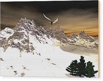 Eagles' Peak Wood Print