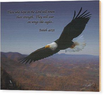 Eagles Wings Wood Print