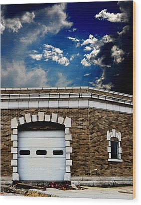 Wood Print featuring the photograph Early 1900s St. Louis Firehouse by Maggy Marsh