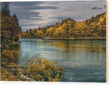 Early Autumn Along The Androscoggin River Wood Print by Bob Orsillo