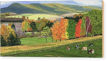 Early Autumn At Bear Meadows Farm Wood Print