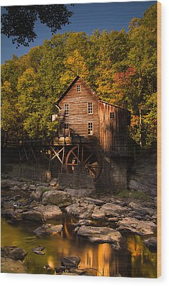 Early Autumn At Glade Creek Grist Mill Wood Print