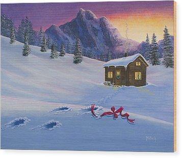 Early Christmas Morn Wood Print