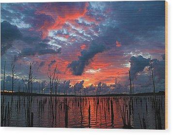 Early Dawns Light Wood Print