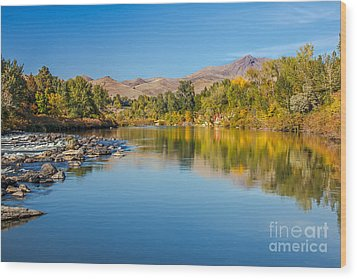 Early Fall On The Payette Wood Print by Robert Bales