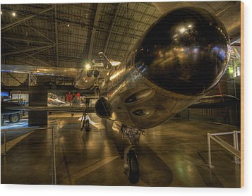 Early Jet Fighter Wood Print by David Dufresne