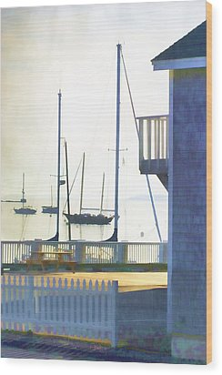Early Morning Camden Harbor Maine Wood Print by Carol Leigh