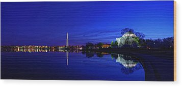 Early Morning Cherry Blossoms Wood Print by Metro DC Photography