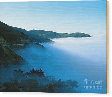 Early Morning Coastline Wood Print by Ellen Cotton