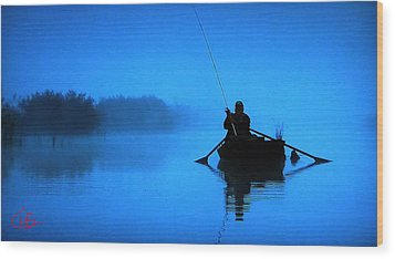 Early Morning Fishing  Wood Print by Colette V Hera  Guggenheim