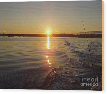 Wood Print featuring the photograph Early Morning Fishing by John Telfer