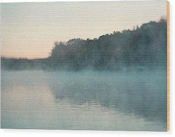 Early Morning Fog Wood Print by Kim Fearheiley