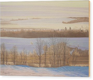 Early Morning Haze Wood Print