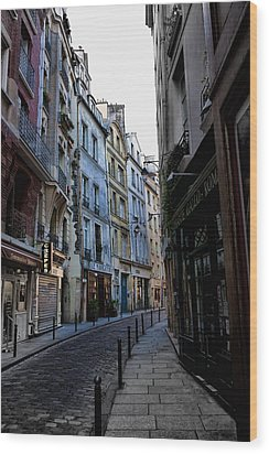 Early Morning In The Latin Quarter Wood Print by Evie Carrier
