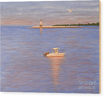 Wood Print featuring the painting Early Morning Light by Cindy Lee Longhini