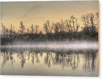 Wood Print featuring the photograph Early Morning Mist by Lynn Geoffroy