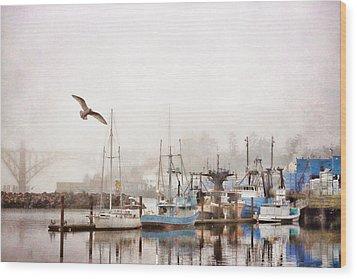 Early Morning Newport Oregon Wood Print by Carol Leigh