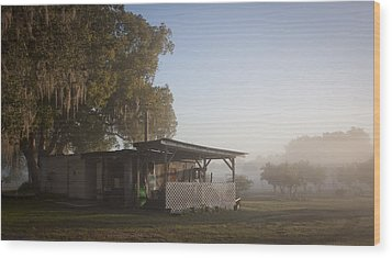 Wood Print featuring the photograph Early Morning On The Farm by Lynn Palmer