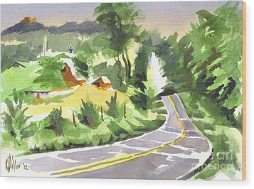Early Morning Out Route Jj Wood Print by Kip DeVore