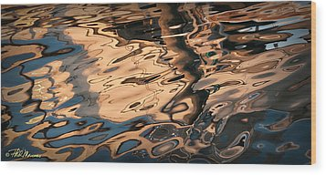 Wood Print featuring the photograph Early Morning Reflections by Phil Mancuso