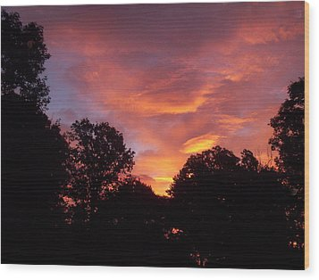 Wood Print featuring the photograph Early Morning Rise by Yolanda Raker