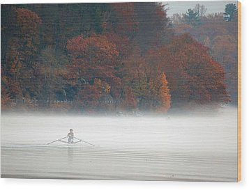 Early Morning Row Wood Print by Karol Livote