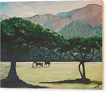 Early Morning Savannah Wood Print by Karin  Dawn Kelshall- Best