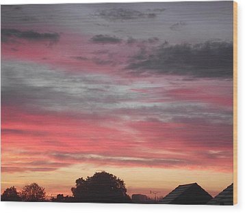 Wood Print featuring the photograph Early Morning Sunrise 1 by Martin Blakeley