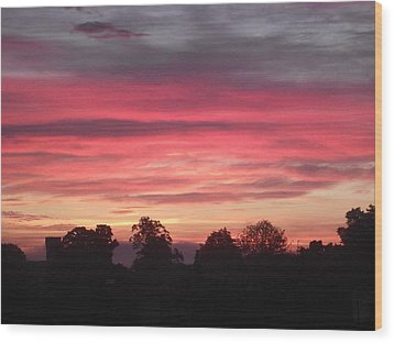 Wood Print featuring the photograph Early Morning Sunrise 2 by Martin Blakeley