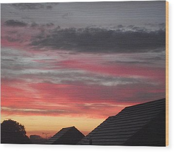 Wood Print featuring the photograph Early Morning Sunrise 4 by Martin Blakeley