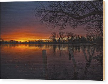 Wood Print featuring the photograph Early Morning Sunrise by Nicholas  Grunas