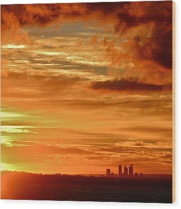 Early Morning Sunshine Over Fremantle Wood Print