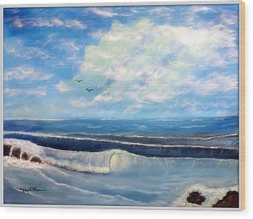 Early Morning Surf Wood Print by Joyce Krenson