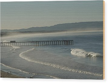 Early Morning Surf Pismo Beach Wood Print
