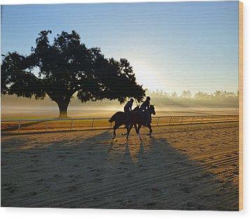 Early Morning Training Run Wood Print