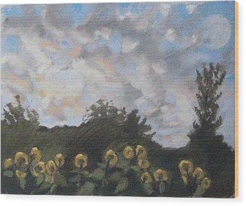 Wood Print featuring the pastel Early September Dawn by Grace Keown