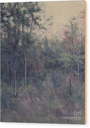 Early September Dusk Wood Print by Gregory Arnett