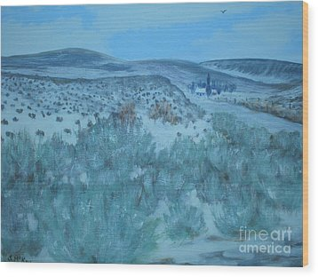 Early Snow In Idaho Wood Print by Suzanne McKay