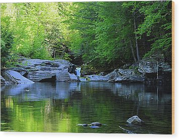 Early Spring Morning At Rock Run Cataracts Wood Print